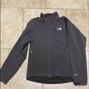 brown apex north face jacket